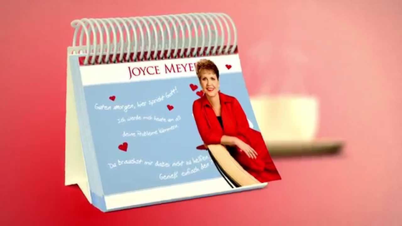 Guten Morgen Hier Spricht Gott Der Tisch Kalender Von Joyce Meyer