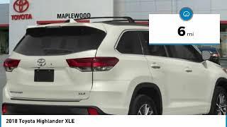 2018 Toyota Highlander XLE Maplewood, St Paul, Minneapolis, Brooklyn Park, MN J14489
