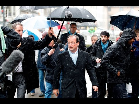 Hollande the rainman: Looks like the sun wasn't shining for French  president during his career