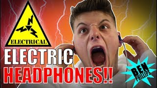 ELECTRIC HEADPHONE **PRANK!** NEARLY KILLED GRANDAD! thumbnail
