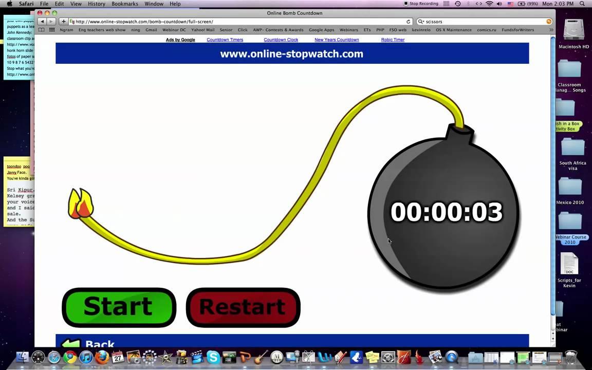 full screen bomb timer