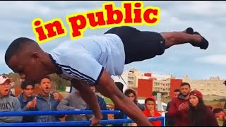 Scaring People With Calisthenics In Public - Crazy reactions 😱