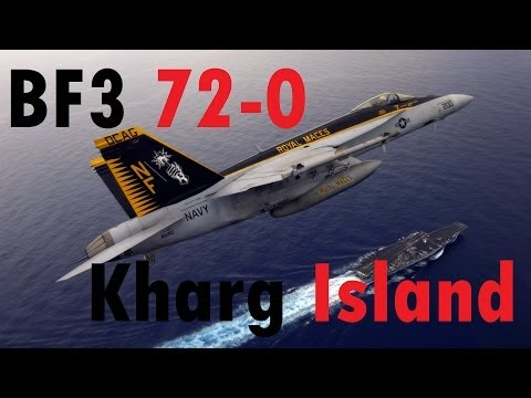 BF3 Perfect Jet Round (72-0) | Kharg Island: F-18 | Conquest HD Gameplay