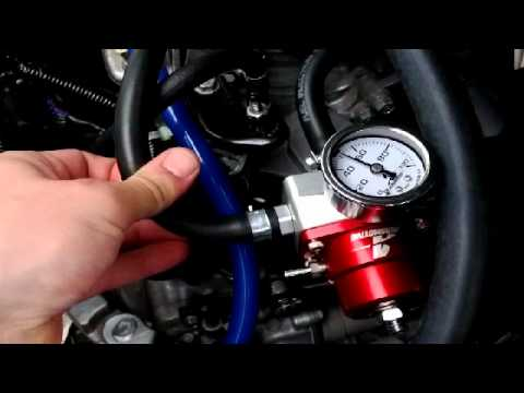 Testing Fuel Pressure Regulator Bypass  Return  YouTube