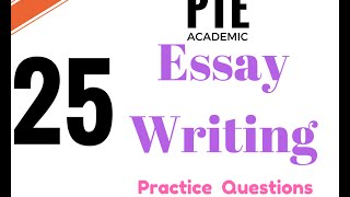This is a video about pte academic writing test practice with 25 recent exam quextions.