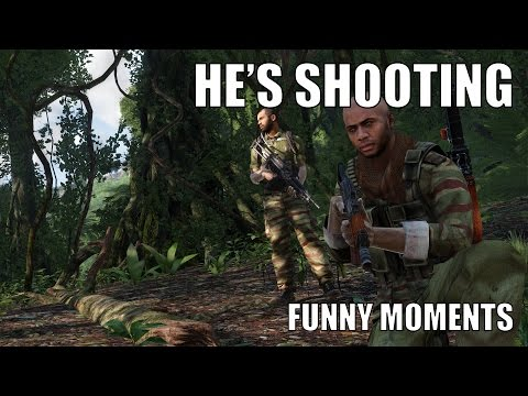 He's shooting at us!!! - ArmA 3 Funny Moments