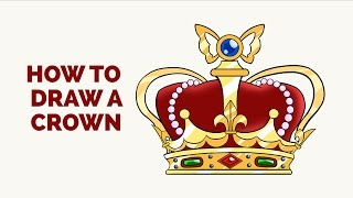 How to Draw a Crown in a Few Easy Steps: Drawing Tutorial for Kids and Beginners