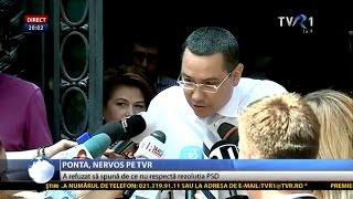 Victor Ponta şi-a vărsat nervii pe un reporter TVR