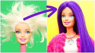 Cómo Hacer Peinados de Barbie, Hágalo Usted Mismo, Trucos de Peinado de Muñeca Púrpura