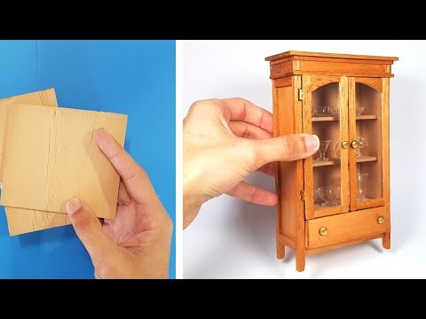 DIY Display Cabinet - Traditional Style / Furniture in Miniature