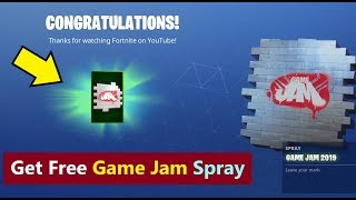 How to get game jam spray for free in Fortnite | Fortnite game jam spray 2019 | Game jam hollywood