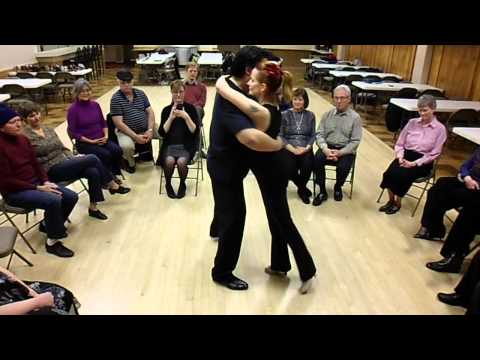 Grant & K'ai Roberts Fu  Demonstrate Dancing Tango in Relatively Small Spaces