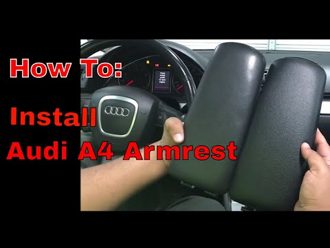 How To Install Audi A4  Armrest
