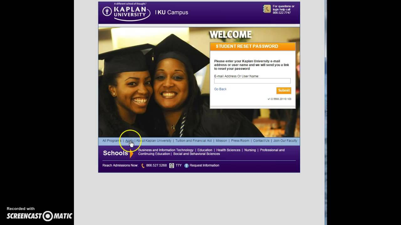 Kaplan University Student Online Login - YouTube