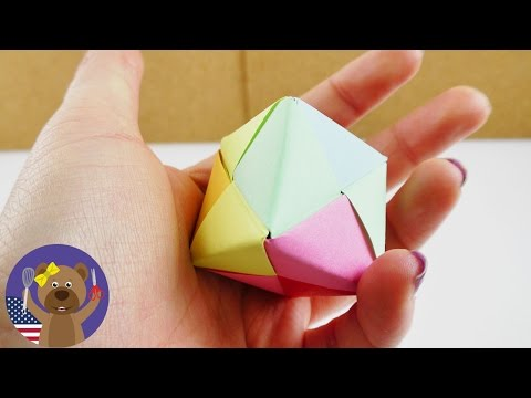 Build your own paper dice   Origami instructions for Kids   Easy & super cute   DIY Gift ideas