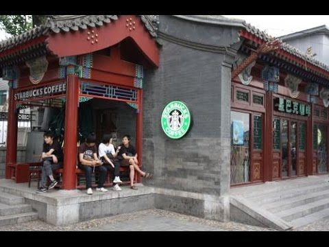 Starbucks in China you could be anywhere in the world its all the same