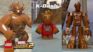 그루트 레고 게임 내 변화 과정 (헐크 그루트 부터 베이비 그루트까지) feat. 그루트 라바저 - 레고 마블 슈퍼 히어로즈 2 LEGO® Marvel Super Heroes 2