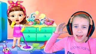УБОРКА В ШКОЛЕ смешное ВИДЕО ДЛЯ ДЕТЕЙ игровой мультик детская игра ПРО ШКОЛУ