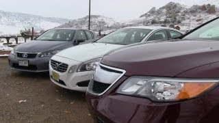 2013 Acura RDX vs Lexus CT 200h vs Volvo S60 T5 Affordable Luxury 0-60 MPH Mashup Review