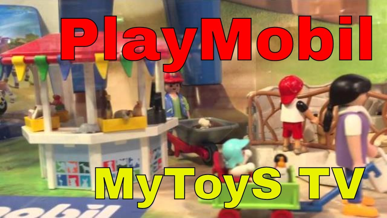 playmobil zoo display at galeria kaufhof 00405 youtube. Black Bedroom Furniture Sets. Home Design Ideas