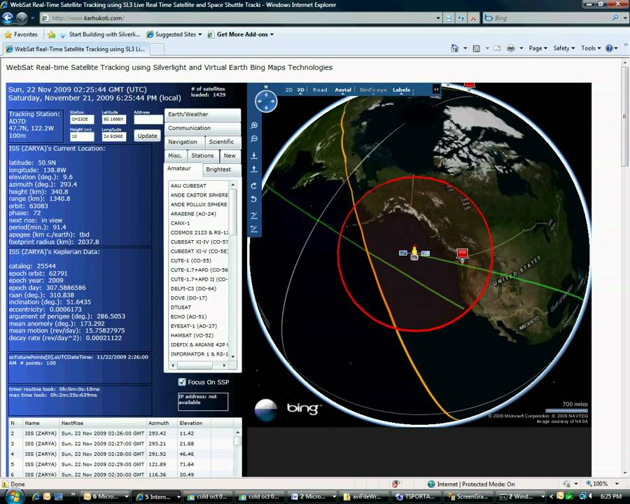 Amateur Radio Satellite Tracking Program for International ...