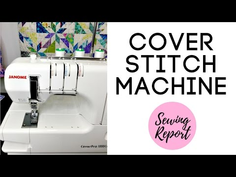 UNBOXING Janome CoverPro 1000CPX coverstitch machine from Pink Castle Fabrics | LIVE SHOW REPLAY