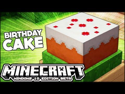 BUILDING A BIRTHDAY CAKE FOR MY BIRTHDAY!! | Minecraft Birthday Celebration #2