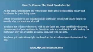 Choosing the Right Comforter Set