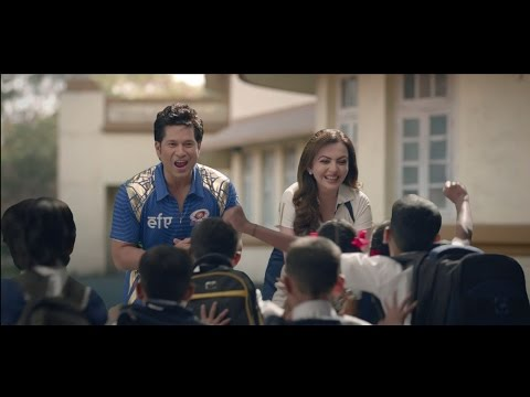 Nita Ambani with Mumbai Indians Believe in Education for All