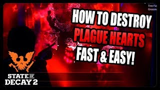 HOW TO DESTROY PLAGUE HEARTS FAST AND EASY IN STATE OF DECAY 2! (TIPS AND TRICKS)