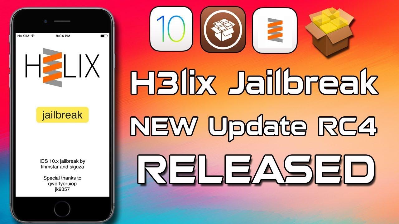 h3lix Jailbreak RC4 WAS RELEASED | iOS 10 3 3, iOS 10 3 2, iOS 10 3 1, 10 2  32-Bit Jailbreak