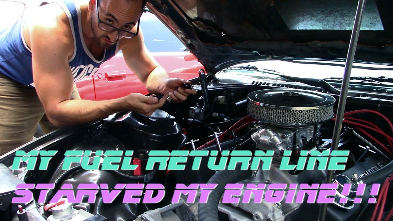 Fixing the fuel pressure regulator and return line on the V8 RX7!