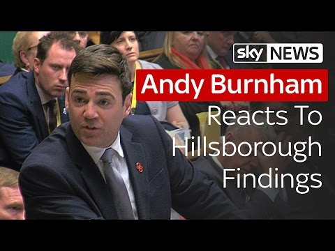 Andy Burnham Responds To Hillsborough Findings