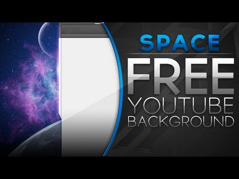 Free YouTube Backgrounds - Space Theme YouTube Background (+PSD) [2012 Layout]