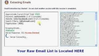 10,000 Emails in 10 minutes - The Best Email Extractor is Social Email Extractor