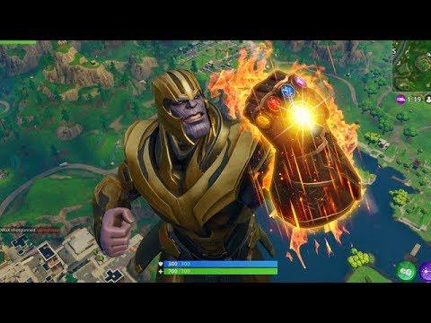 fortnite thanos infinity gauntlet gameplay avengers infinity war