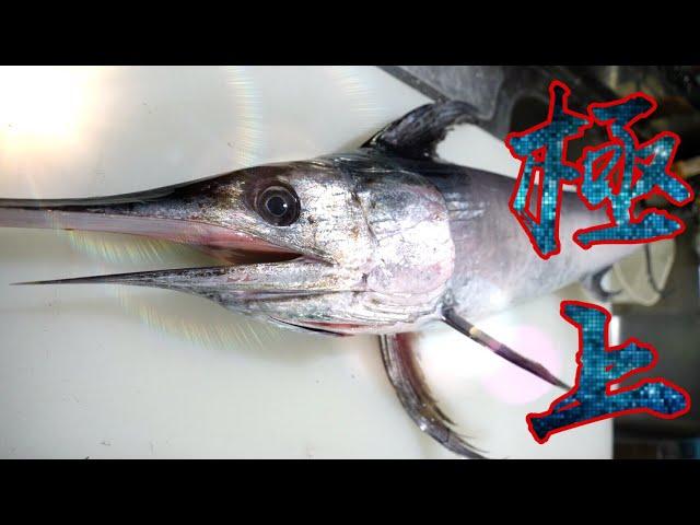 漁師さんからタダで頂いた『新鮮な大きなカジキ』実は〇〇で食べるとうまいんです!