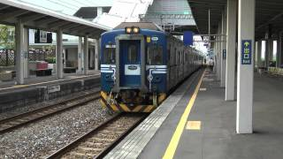 [HD] The Taiwan TRA Tzu-Chiang Train E1000 and Daewoo EMU 500 at Ciaotou Station
