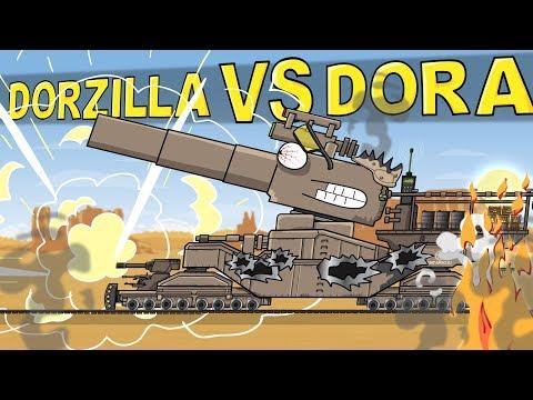 """Dorzilla VS Dora"" Cartoons about tanks"