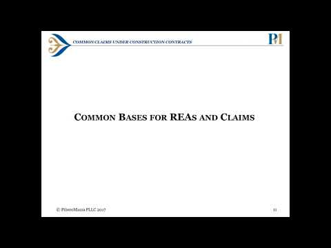 Common Claims Under Construction Contracts