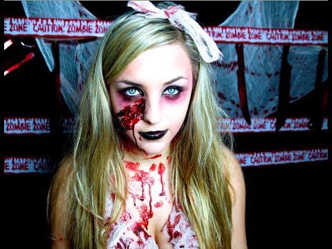 Bloody Zombie Halloween Makeup