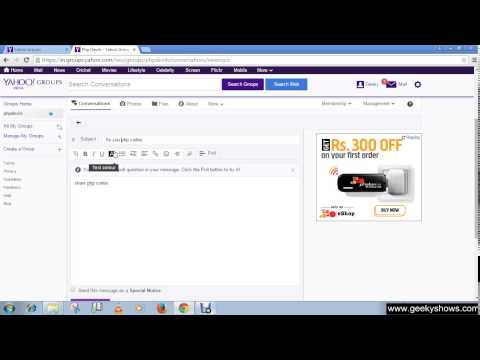 Create or Post new message or Topic in Yahoo Group
