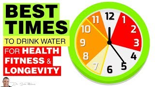🚰 Best Times To Drink Water For Health, Fitness & Longevity