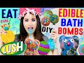 DIY Edible Bath Bombs | EAT Lush Galaxy Bathbombs | Rainbow Drink Bombs | Gummy…