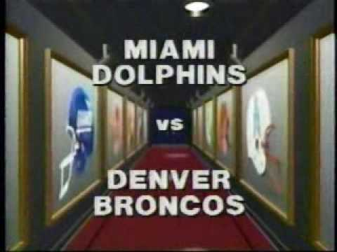 Miami Vs. Denver Football Game Intro August 1987