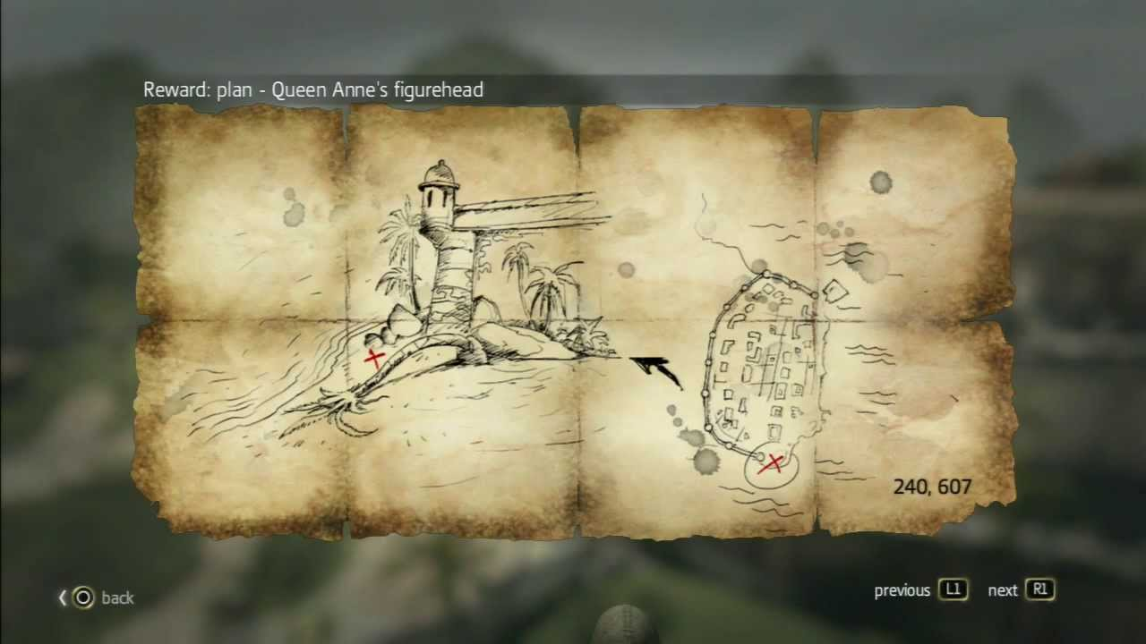 Assassin s Creed 4 Treasure Map Treasure in Havana