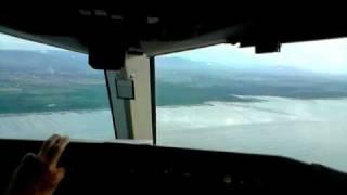 Landing Boeing 757 in Tocumen Airport