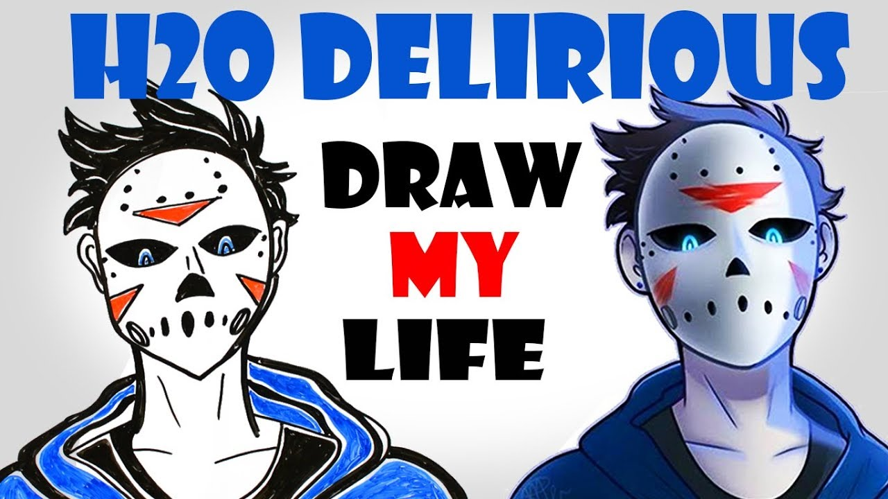 Draw My Life : H2O Delirious - YouTube H20 Delirious Drawings