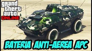 GTA Online VEÍCULO ANFÍBIO APC BATERIA ANTI-AÉREA DLC TRAFICO DE ARMAS