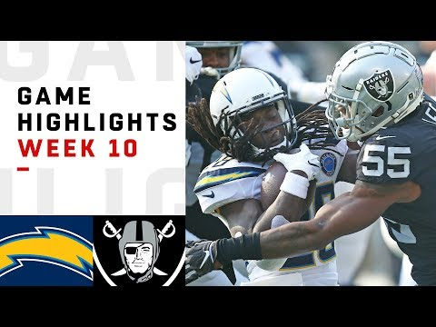 Chargers vs Raiders Week 10 Highlights  NFL 2018